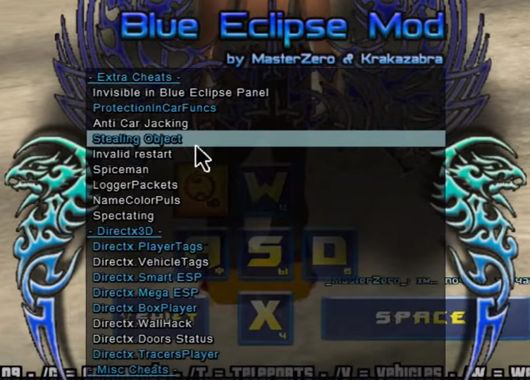 Sobeit 0.3.7 Blue Eclipse mod version 3 для GTA:SAMP