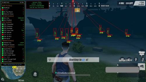ExileD Hack для Rules of Survival [07.12.18]